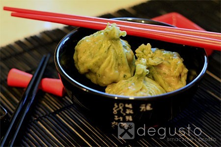 Zielone dim sum - czyli pierożki z Chin zielone dim sum 2 degusto - przepisy smaczne i proste