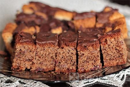 Ciasto orzechowe z wiśniami ciasto orzechowe z zurawina 1 degusto - przepisy smaczne i proste