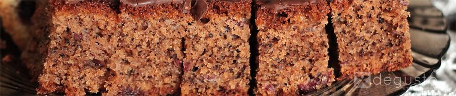 Ciasto orzechowe z wiśniami ciasto orzechowe z zurawina degusto - przepisy smaczne i proste