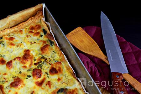 Tarta ze szpinakiem i kalafiorem tarta ze szpinakiem 1 degusto - przepisy smaczne i proste