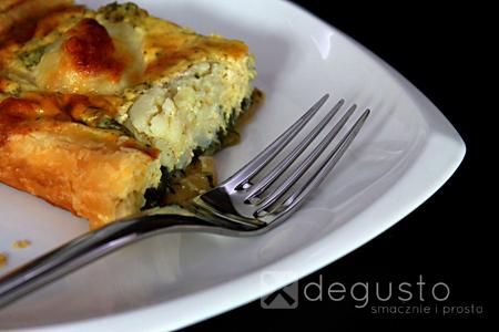 Tarta ze szpinakiem i kalafiorem tarta ze szpinakiem 2 degusto - przepisy smaczne i proste