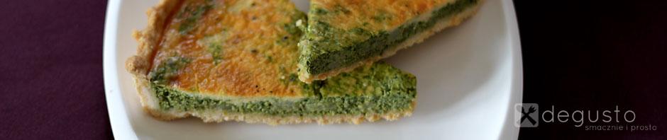 Tarta szpinakowa z ricottą i gruszką 21 degusto - przepisy smaczne i proste