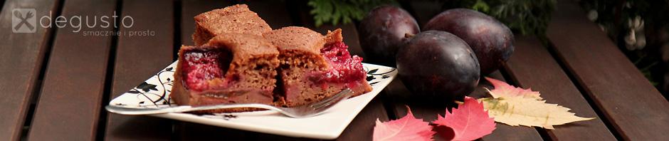 Ciasto czekoladowe ze śliwkami 11 degusto - przepisy smaczne i proste